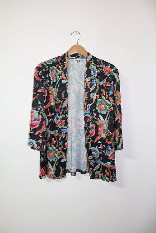 90s Floral Kimono Cardigan