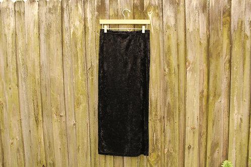 90s Crushed Velvet Maxi Skirt - M/L