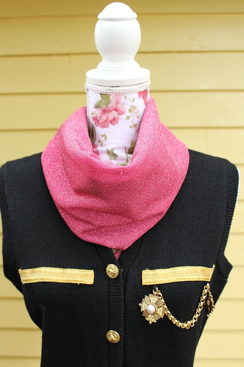 Hot Pink Sparkle Scarf Belt
