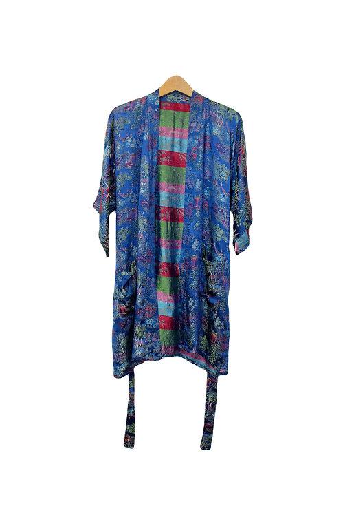 90s Silky Tea Garden Kimono - S/M/L