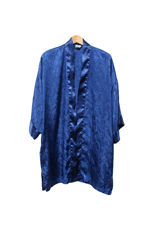 90s Low Key Paisley Robe - L/XL