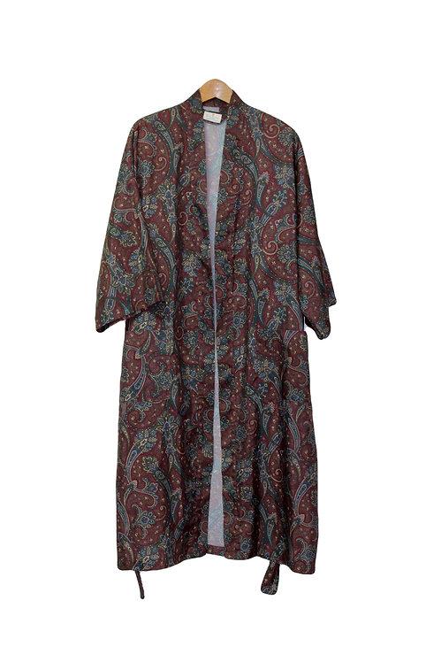 90s Designer Paisley Robe - XL/XXL+