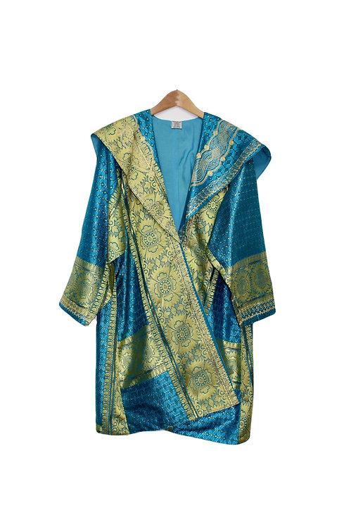 Egyptian-Style Gold Embroidered Robe - L