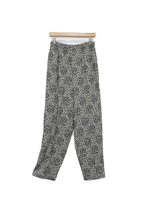 90s Floral Brocade Trousers - M