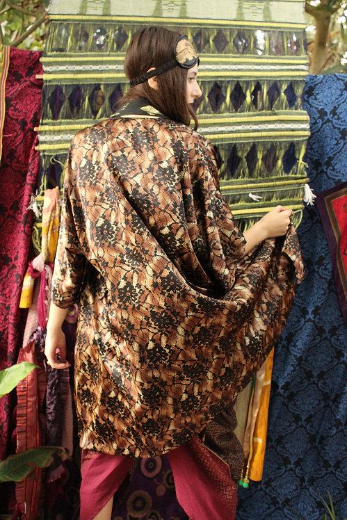Silky Lace Pattern Kimono - M/L/XL