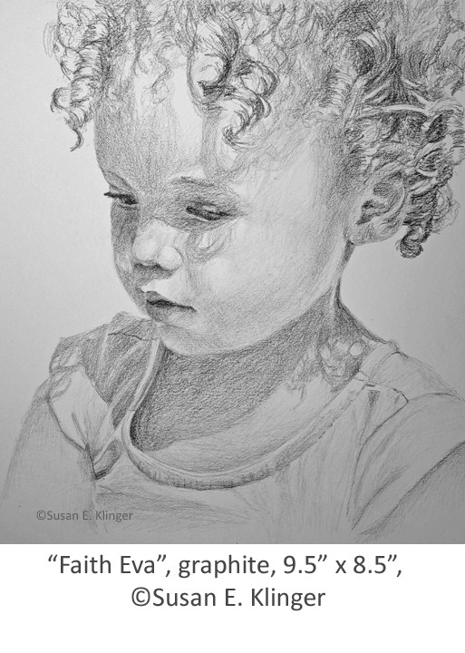 "The completed portrait, ""Faith Eva"", Graphite"