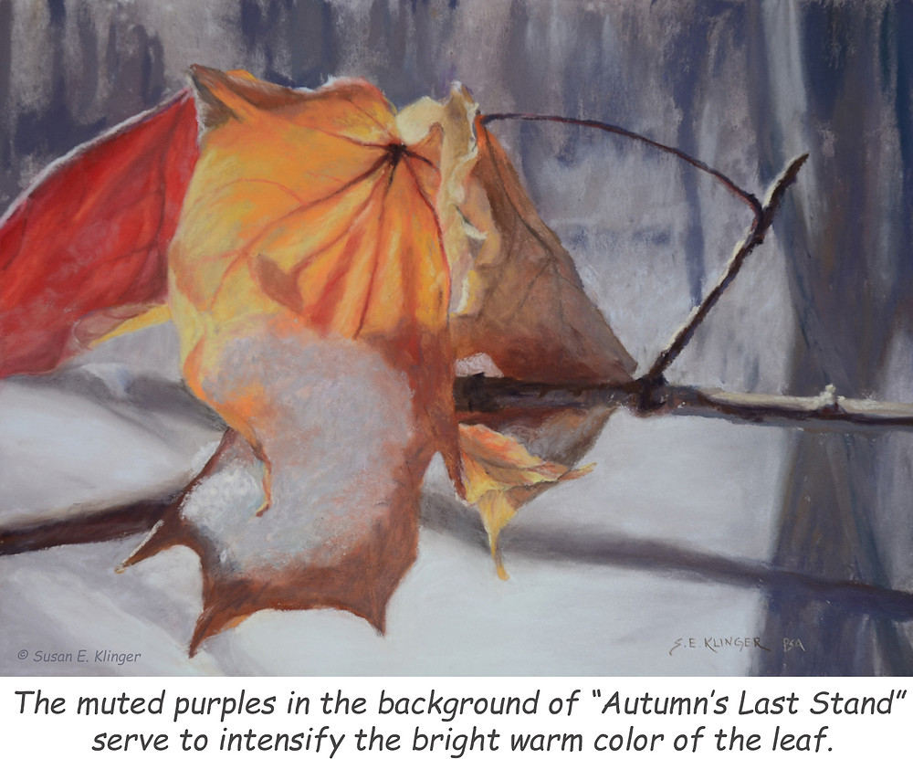"""""""Autumn's Last Stand"""" uses purple more subtly"""