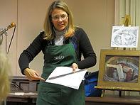 Artist Susan Klinger, teaching
