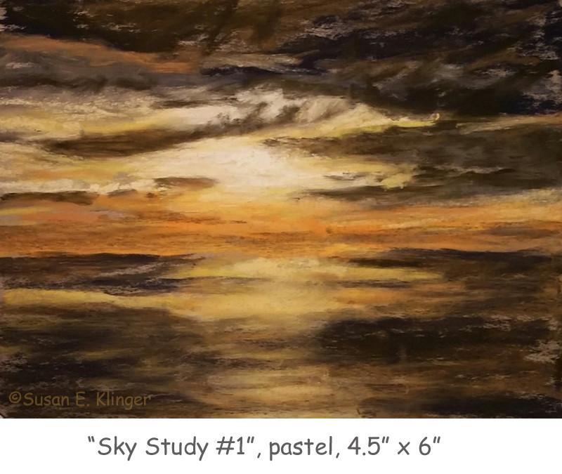 Sky Study #1, pastel