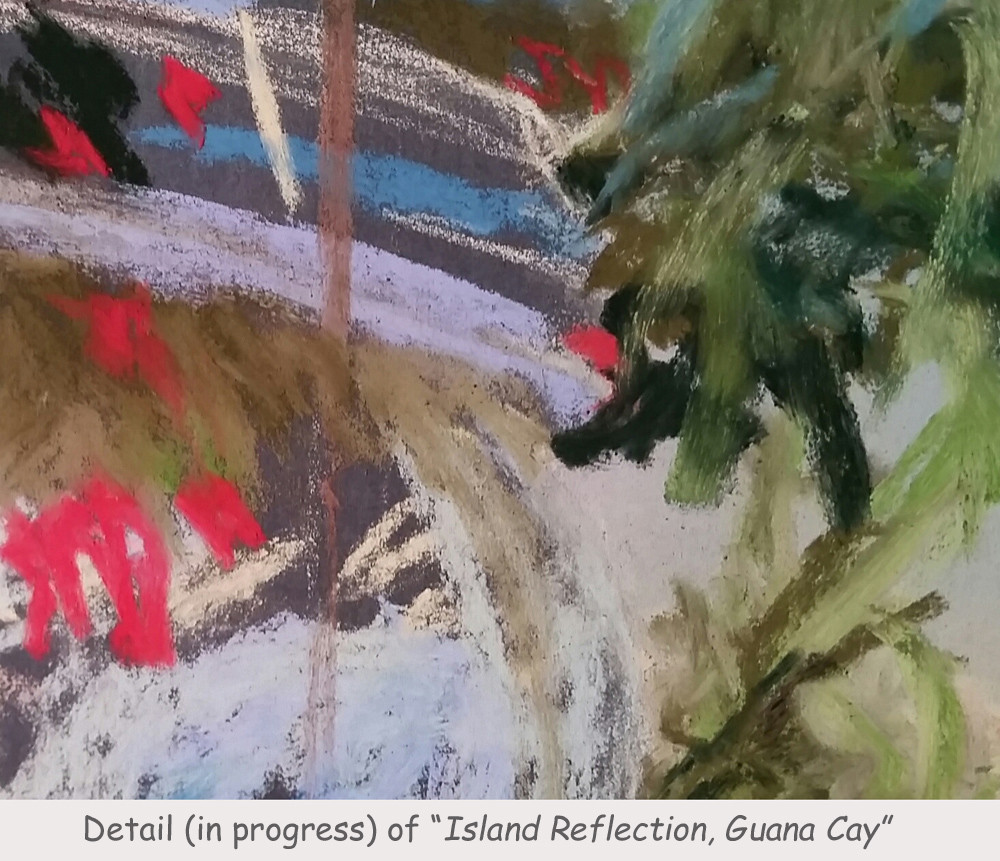 "Detail, ""Island Reflection, Guana Cay"""