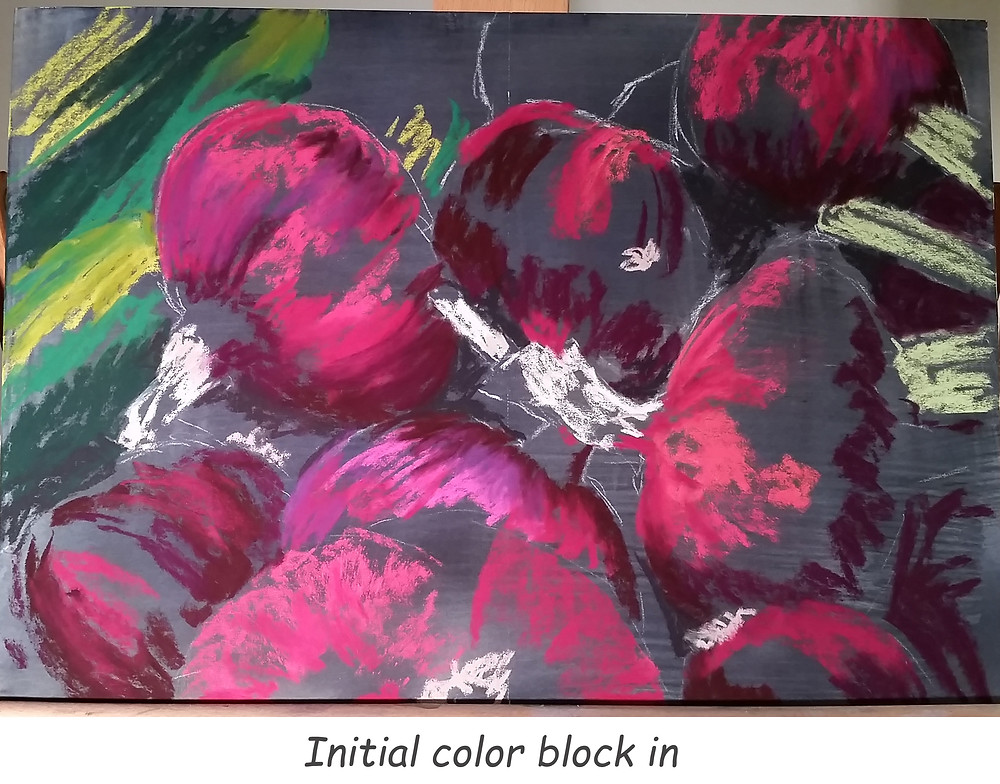 Initial application of color