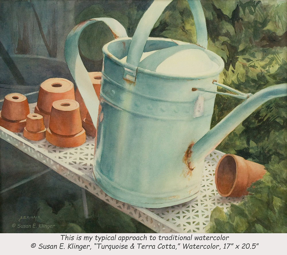 """Turquoise & Terra Cotta"", watercolor"