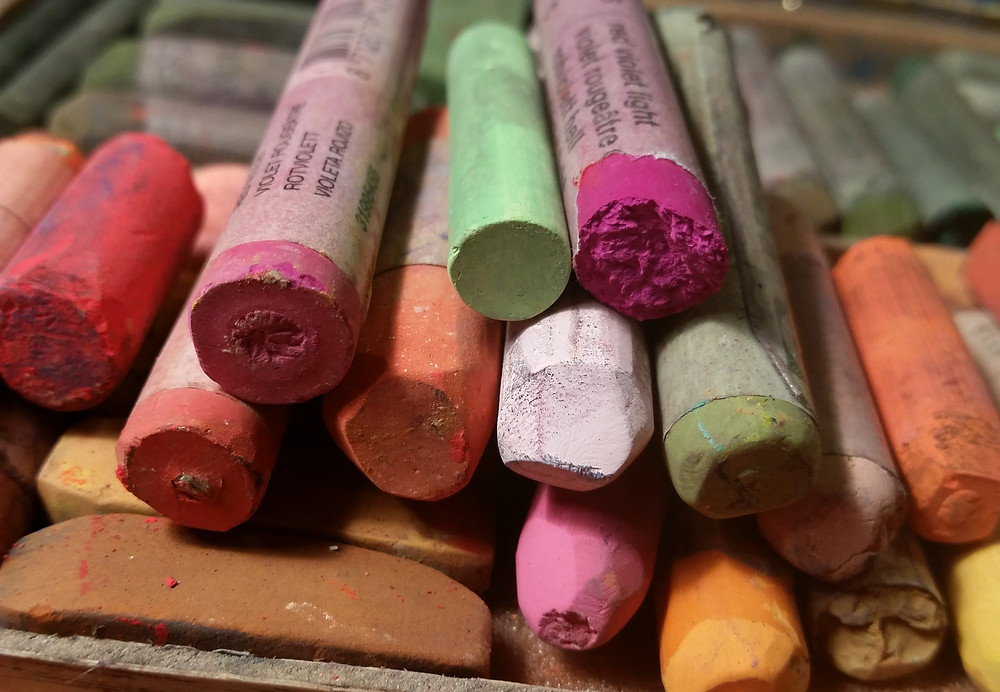 Sticks of soft pastel