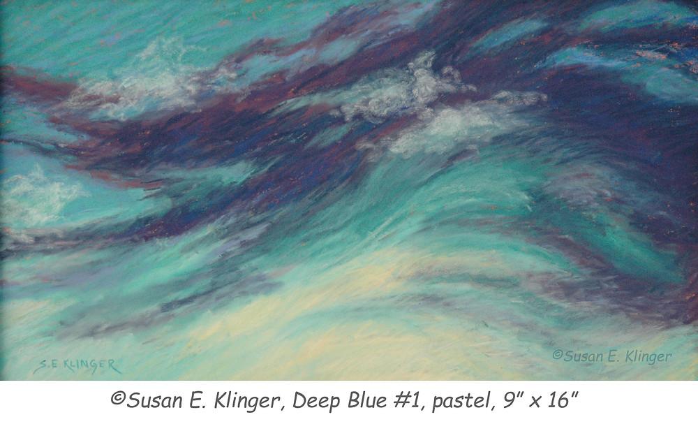 """Deep Blue #1"", pastel"