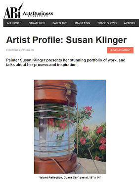 Arts Buisness Institute featured artist profile