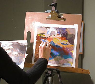 Pastel painting demonstration