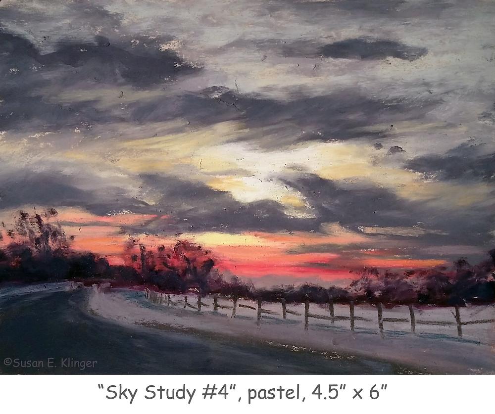 """Sky Study #4"", pastel"