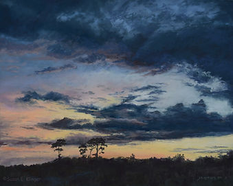 Pastel painting, Summer Twilight