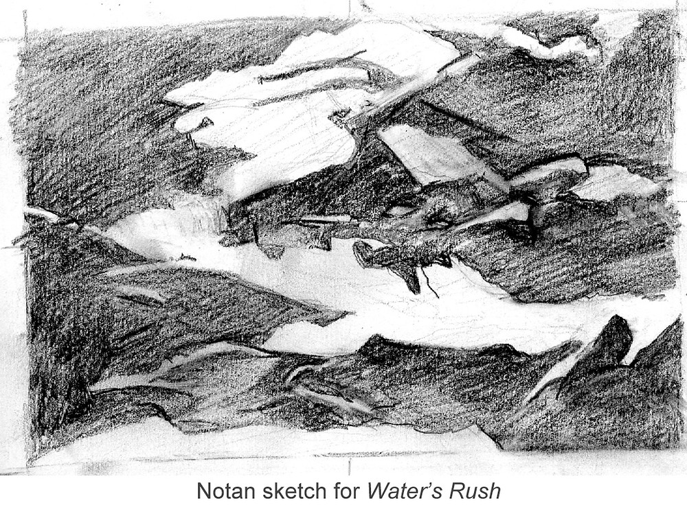 Notan - A black & white preliminary sketch to create a stronger composition