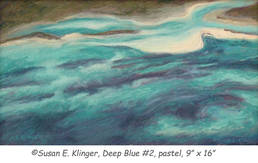"""Deep Blue #2"", pastel"