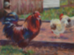 Country Creek Crooner, pastel painting
