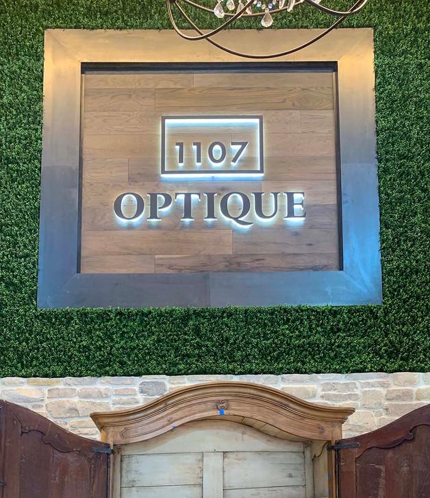 1107 optique interior acrylic led letter