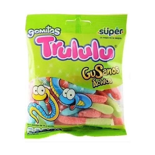 Trululu Sour Worms Gummies (Gomitas en forma de Gusanos ácidos) - 3.17 Oz