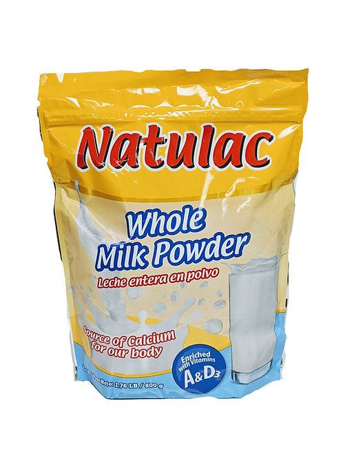 Natulac Whole Powder Milk/Leche en Polvo Completa - 800g