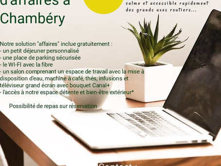 Voyage d'affaires à Chambéry choisissez La Porte des Alpes !