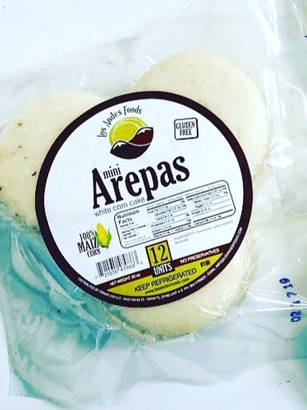 Mini Arepas de Maiz 12 Und/Mini Corn Arepas Plain 12 units