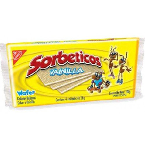 Nabisco Sorbeticos Vanilla/Sorbeticos de Vainilla - 4/25g