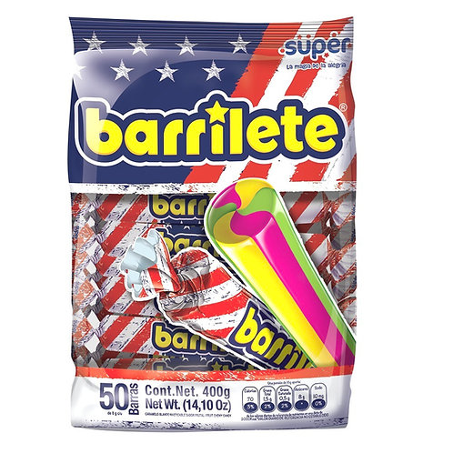 Barrilete Chewy Candy (Caramelo masticable sabor a Frutas) - 1/50CT