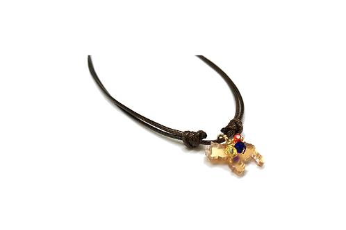 Necklace with acrylic Venezuelan Map