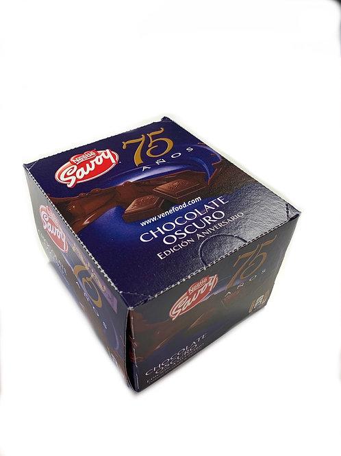 Savoy 75 Anniversay Dark Chocolate - Display 10/100g