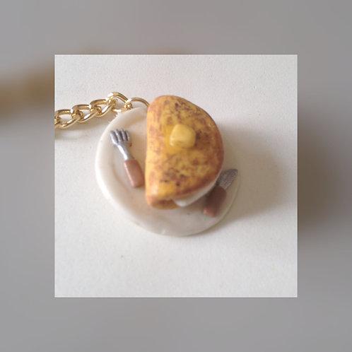 Corn Pancake Keychain - Llavero Cachapas