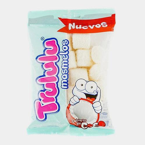 Trululu Coconut Covered Marshmallows (Malvaviscos cubiertos de Coco) - 1.94 Oz