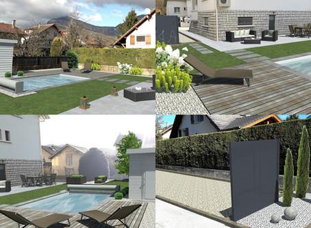 Bien-être et détente autour de la piscine à La Porte des Alpes !