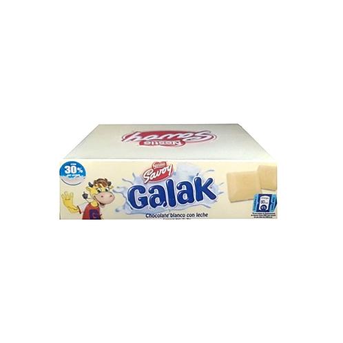 Savoy Galak White Chocolate Display / Savoy Galak Chocolate Blanco - 12pk