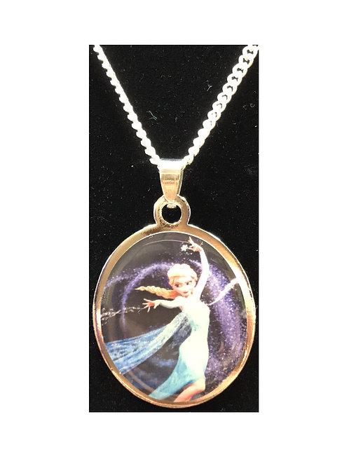 Elsa (Frozen) long Necklace - Collar de Elsa