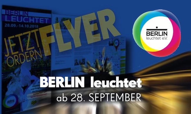 BERLIn leuchtet Flyer bei DIE MITTE e.V.