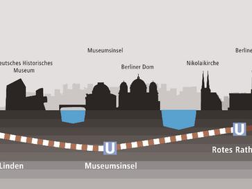 Berlin tief verbunden. U5 fährt durch