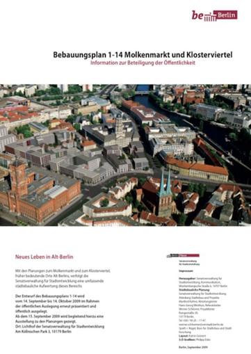 Cover Bebauungsplan Molkenmarkt