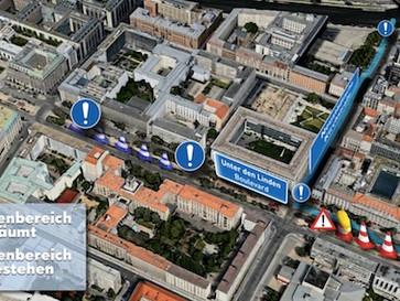 Rückbau Unter den Linden beginnt:  Demontage von U5-Baustelleneinrichtungen