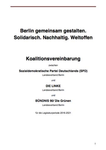 Koalitionsvertrag Berlin 2016