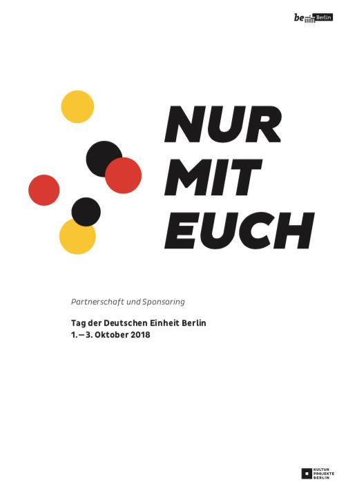 Tag der Deutschen Einheit Berlin 1.-3. Oktober 2018