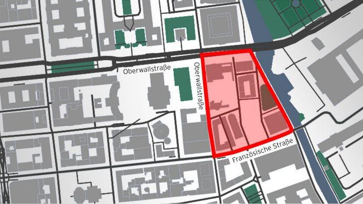 Karte des DAU Projekt - Unter den Linden und Französische Straße