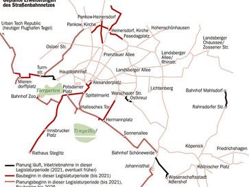 Netzerweiterung - Erste Straßenbahnen befahren neue Strecken nicht vor 2021