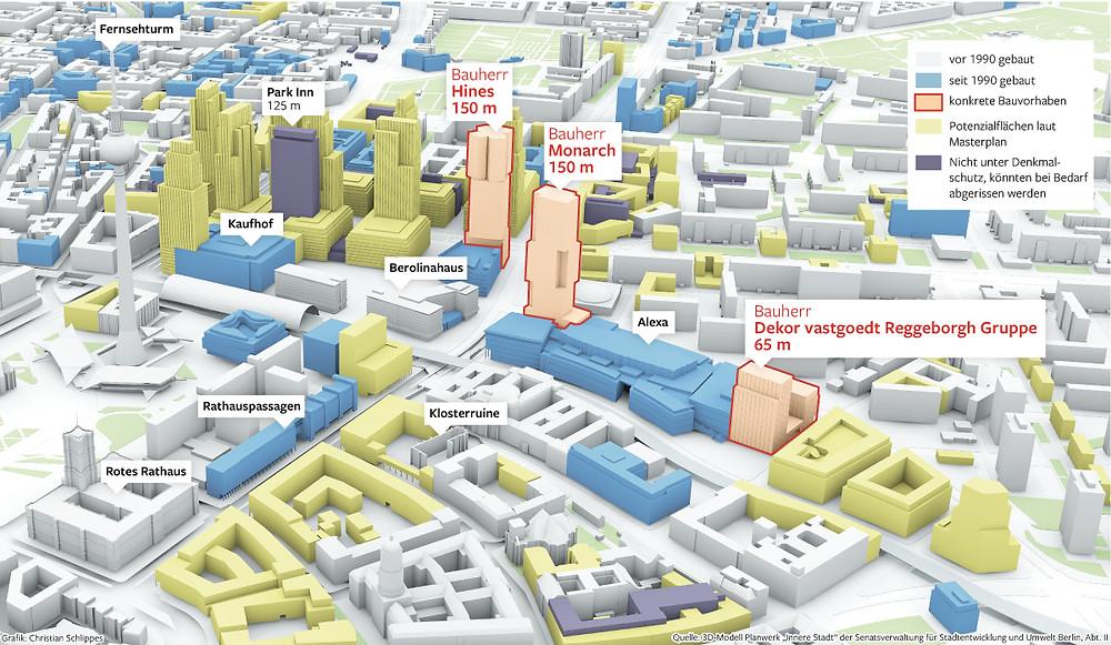 3D Modell Planwerk 'Innere Stadt' der Senatsverwaltung für Stadtentwicklung und Umwelt Berlin, Abt II