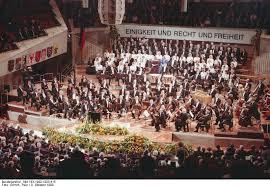 Festakt zur Deutschen Einheit in der Berliner Philharmonie 1990