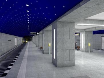 Einladung ins Eis - Baustellenbesichtigung   U-Bahnhof Museumsinsel
